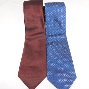 Hugo Boss Mens Metallic Tie Lot (2)